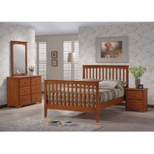 MERRIMAC MISSION QUEEN BED FRAME - HONEY OAK