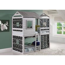 Deer Blind Bunk Loft With Green Camo Tent