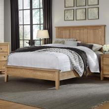 King Light Oak Panel Bed with Low Profile Footboard