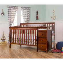 Brody 5 in 1 Convertible Crib with Changer in Espresso