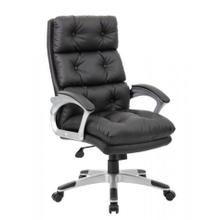 B7371 - Boss Office Products B7371-BK Button Tufted Executive Chair in Black