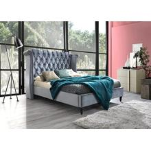 Hollywood - Queen Platform Upholstered Bed - GREY