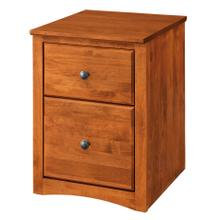 2 Drawer Mobile File - Antique Cherry Finish