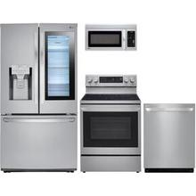 View Product - LG 4 piece print proof stainless steel  kitchen appliance package