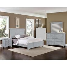Queen Gray 4 PC Bedroom Set - Sleigh Bed