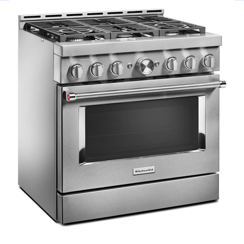 KitchenAid® 36'' Smart Commercial-Style Gas Range with 6 Burners