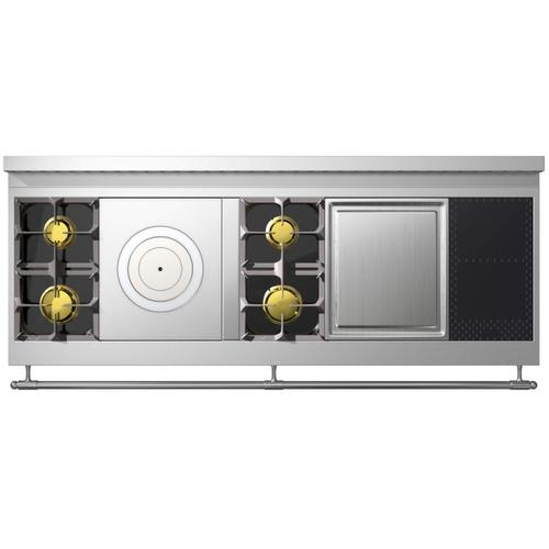 Chateau Grand Palais 180(N8) - 2-Gas Burners - 1-French Plaque - 2-Gas Burners - 1-Teppanyaki - 2-Induction Burners