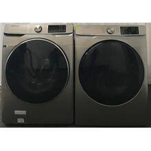See Details - 4.5 cu. ft. Smart Front Load Washer with Super Speed & 7.5 cu. ft. Electric Dryer in Champagne Set (sold as set)