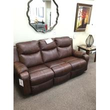 See Details - LEATHER RECLINING SOFA