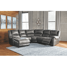 Nantahala - Slate - 2 Recliner Sectional with Left Facing Chaise