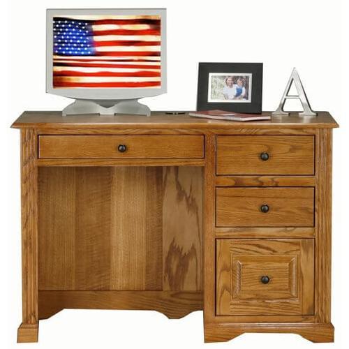 """Oak 32"""" Single Pedestal Desk"""