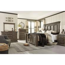 Wyndahl  Rustic Brown - 7 Pc. - Dresser, Mirror, Chest, Nightstand & King Panel Bed