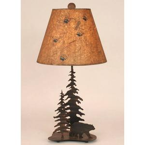Iron Feather Tree Series w/ Bear Accent Lamp
