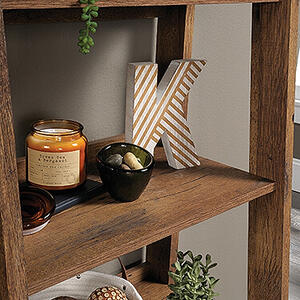 Sauder - Trestle 5-Shelf Bookcase