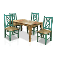 Bombay Dining Table & Cross-Back Chairs