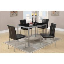 View Product - Linda - 5 PCS Dining Set - Silver Finish