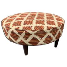 See Details - Round Upholstered Ottoman