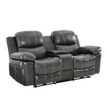 Cadence Dual Recliner Console Love Seat