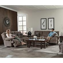2-Piece Manual Reclining Living Room Set in Pewter Fabric