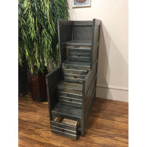 Storage Staircase Rustic Grey
