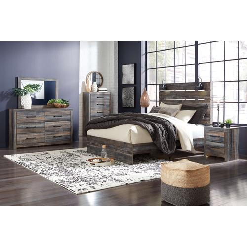 Drystan - Queen Panel Bed, Dresser, Mirror, & 1 X Nightstand