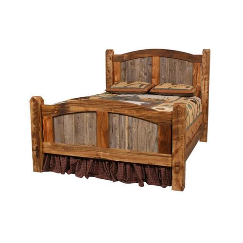 House Lodge Collection - Natural Barn Wood Prairie Bed