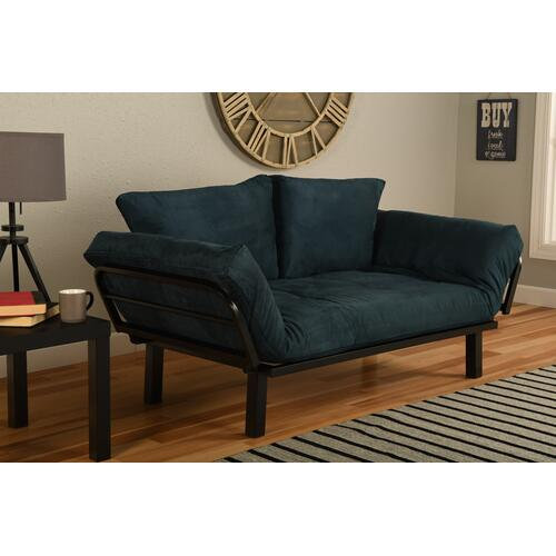 Mattress Discount Southgate - Black Spacely Lounger Suede Navy