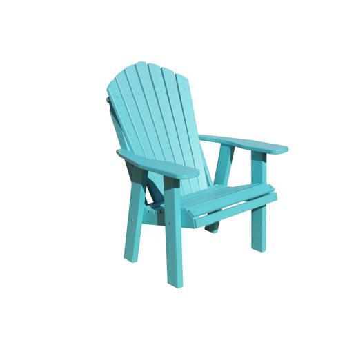 Adirondack Chair Shown in Aruba Blue Poly Lumber