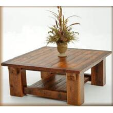 Stony Brooke Timber Frame Coffee Table With Shelf