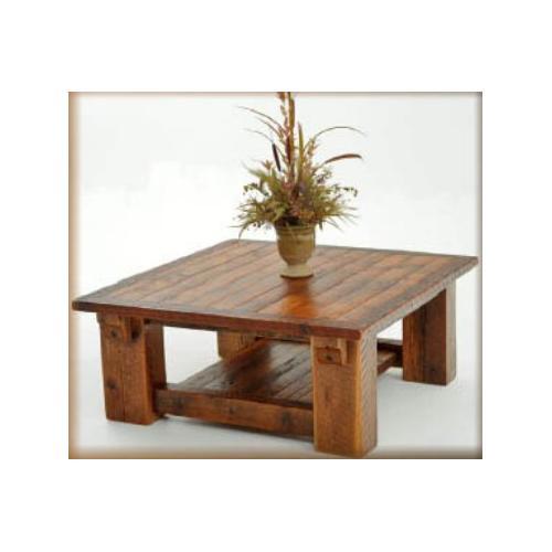 Stony Brooke Timber Frame Coffee Table With Shelf