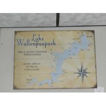 Product Image - Lake Wallenpaupack map sign
