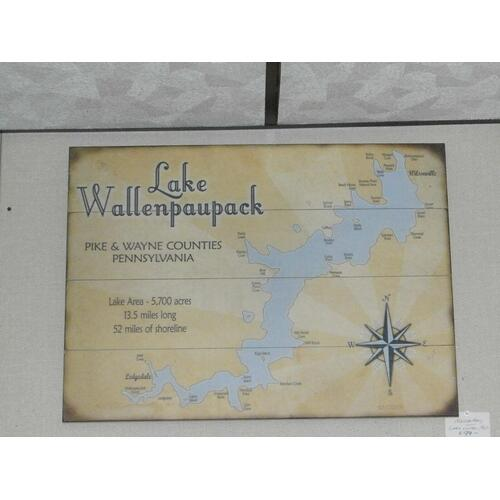 Lake Wallenpaupack map sign