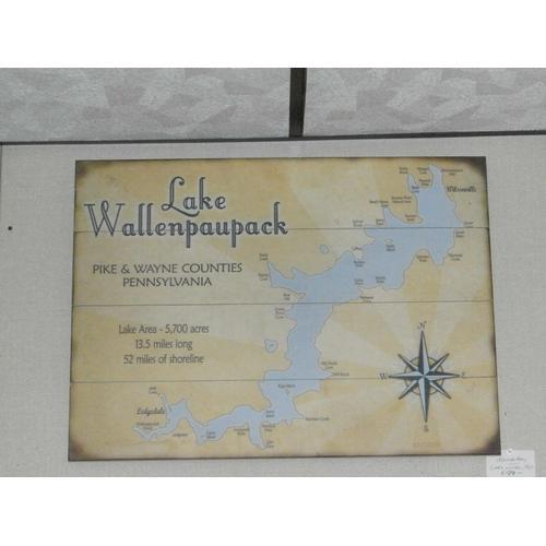 Meissenburg - Lake Wallenpaupack map sign
