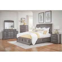 LIFESTYLE C8472 C8472-045 C8472-050 C8472-QTO C8472-QTG C8472-QXJ C8472-BTN C8472-MXS Lorrie Weather Greywash 3-Piece Bedroom Group - Queen Storage Bed, Dresser & Mirror