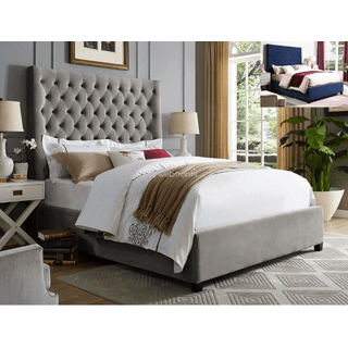 Aster Grey King Bed
