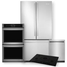 See Details - Stainless Steel 72 Counter Depth French Door Refrigerator 4 Piece Package- Minor Case Imperfections