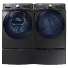 See Details - SAMSUNG  Add Wash 4.5 Cu.Ft. Front Load Washer 7.5 Cu.Ft. Electric Dryer with Pedestals - Black Stainless