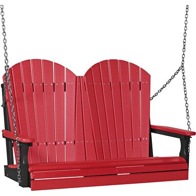 Adirondack Swing 4' Red and Black
