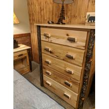 See Details - Hickory 5-Drawer Chest