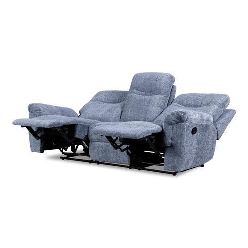New Classic Furniture - Sheffield Blue Dual Reclining Sofa