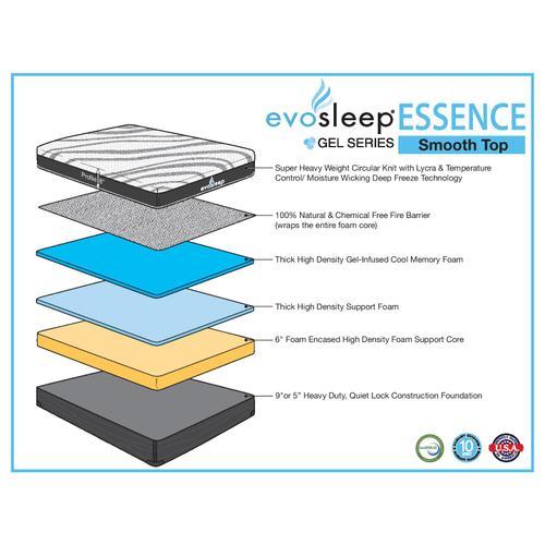 "Gallery - Evo Sleep Essence 8"" Memory Foam"