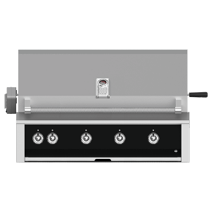 """Aspire By Hestan 42"""" Built-In Grill With U-Burner, And Rotisserie LP Stealth Black"""