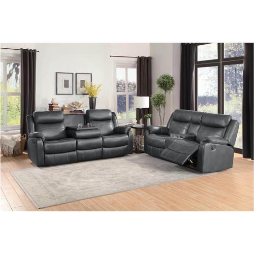 Yerba- Dark Brown Reclining Sofa and Loveseat