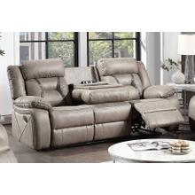 View Product - STEVE SILVER TY850S Tyson Soft Camel Reclining Drop Down Table Console Sofa