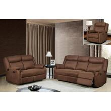 U8303 - Chocolate - Reclining Sofa