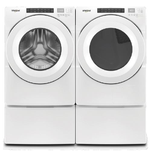 WHIRLPOOL Intuitive Controls 4.3 Cu.Ft. Front Load Washer & 7.4 Cu.Ft. Electric Dryer with Pedestals