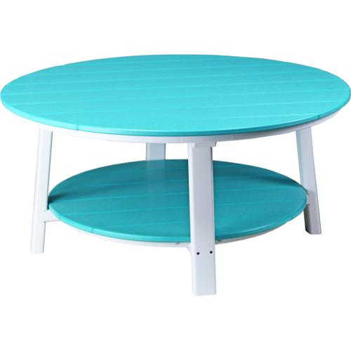 Deluxe Conversation Table Aruba Blue and White