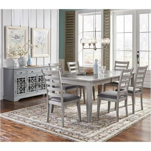 Tiled Extendable Dining Table & 6 Chairs