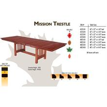 MIssion Trestle Tables