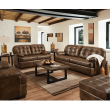 Sofa and Loveseat - Chaps - Brown Leather